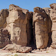 Solomon's Pillars In The Timna Valley In Southern Israel. Art Print