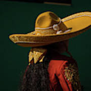 Sombrero and an Escaramuza Cowgirl in Mexico Art Print
