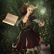 Sorceress And Magic Art Print