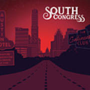South Congress Avenue Art Print
