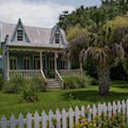 Southern Coastal Tin Roof Cottage Art Print