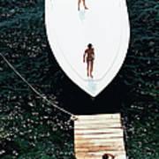 Speedboat Landing Art Print