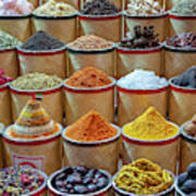 Spices Market In Dubai Art Print