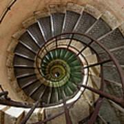 Spiral Staircase In The Arc De Art Print