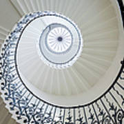 Spiral Staircase, The Queens House Art Print