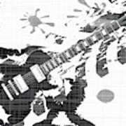 Splatter Guitar Art Print