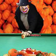 Spooky Pumpkin Pool Art Print