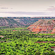 Sprawling Panorama Of Palo Duro Canyon And Capitol Peak - Texas State Park Amarillo Panhandle Art Print