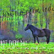 Spring Pasture Quote Art Print