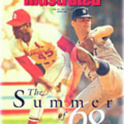 St. Louis Cardinals Bob Gibson And Detroit Tigers Denny Sports Illustrated Cover Art Print