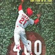 St. Louis Cardinals Curt Flood Sports Illustrated Cover Art Print