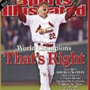 St. Louis Cardinals David Eckstein, 2006 World Series Sports Illustrated Cover Art Print