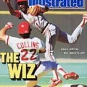 St Louis Cardinals Ozzie Smith... Sports Illustrated Cover Art Print