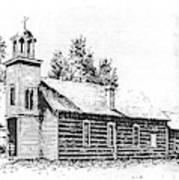 St. Mary's Mission, Stevensville, Montana Art Print