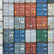 Stack Of Cargo Containers Full Frame Art Print