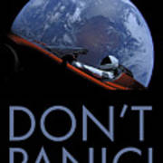 Starman Don't Panic In Orbit Art Print