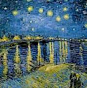 Starry Night - Digital Remastered Edition Art Print