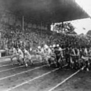 Start Of 3,000 Meter Olympic Race Art Print