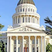 State Of California Capitol Building 7d11736 Art Print