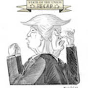 State Of The Union Recap Art Print