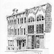 State Publishing And Parchen Building Helena Montana Art Print