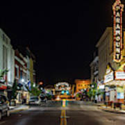 State Street With The Newly Lit Bristol Sign Art Print
