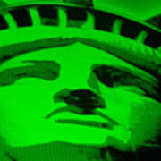 Statue Of Liberty In Green Art Print