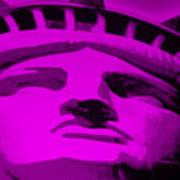 Statue Of Liberty In Purple Art Print