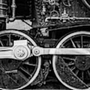 Steam Locomotive Detail Art Print
