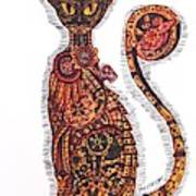 Steam Punk Cat Art Print