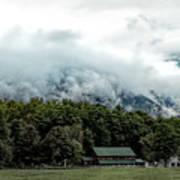 Steaming White Mountains Art Print