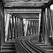Steel Girder Railway Bridge Art Print