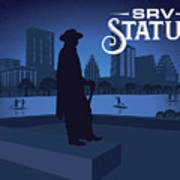 Stevie Ray Vaughan Memorial Statue  Art Print