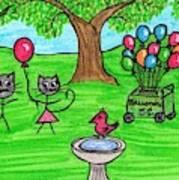 Stick Cats #7 Art Print