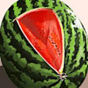 Still Life Watermelon 1 Art Print