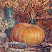 Still Life With Pumpkin Art Print
