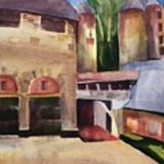 Stone Barns Courtyard Art Print