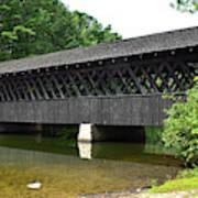 Stone Mountain Covered Bridge Panorama View Art Print