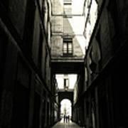 Street In Barcelona Art Print