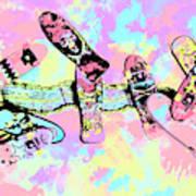 Street Sk8 Pop Art Art Print