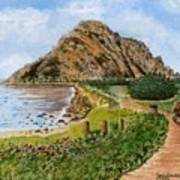 Strolling To The Rock Art Print