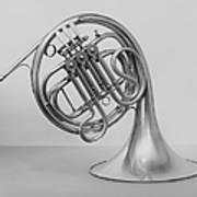 Studio Shot Of French Horn Art Print