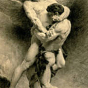 Study For Jacob Wrestling With The Angel, 1876 Art Print