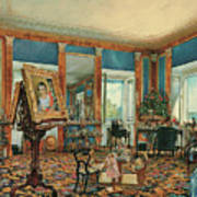 Study In Palais Rasumofsky On Landstrasse In Vienna        Art Print