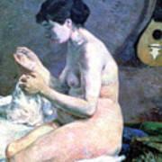 Study Of A Nude, 1880. Artist Paul Art Print