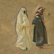 Study Of Two Bedouins Art Print