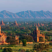 Stupas On The Plains Of Bagan, Myanmar Art Print