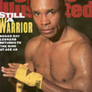 Sugar Ray Leonard, Middleweight Boxing Sports Illustrated Cover Art Print