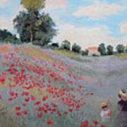 Summer Landscape Oil Painting Art Print