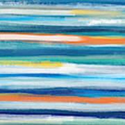 Summer Surf 3- Art By Linda Woods Art Print